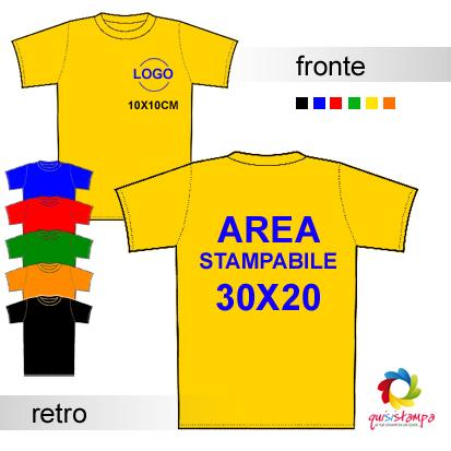 5b20bf8b6c05 stampa maglietta colorata personalizzata con stampa monocolore fronte retro